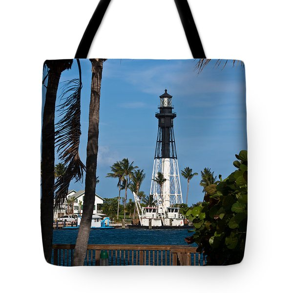 Hillsboro Inlet Lighthouse And Park Tote Bag by Ed Gleichman