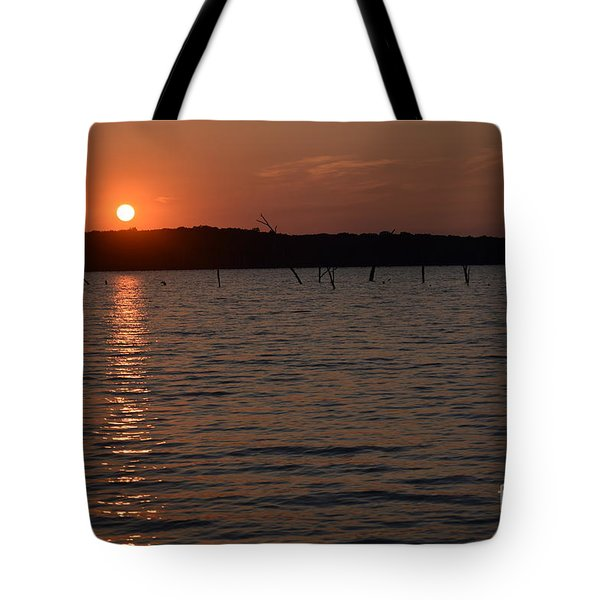 Hillsdale Lake Sunset Tote Bag