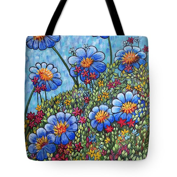 Hillside Blues Tote Bag by Holly Carmichael