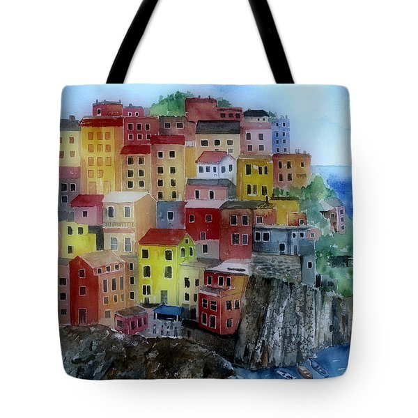 Hillside Homes Tote Bag by Arline Wagner
