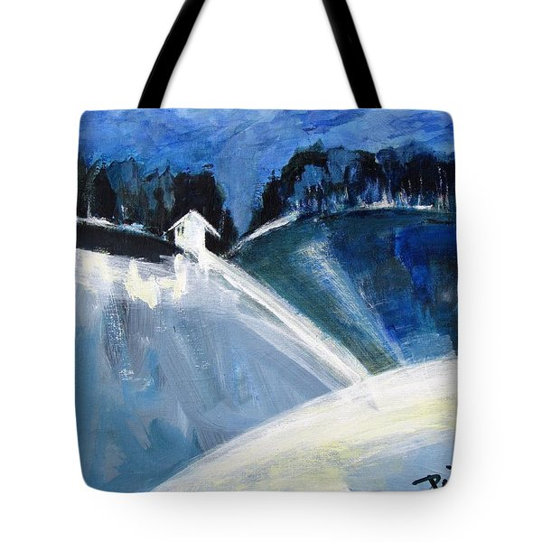 Hillside In Winter Tote Bag