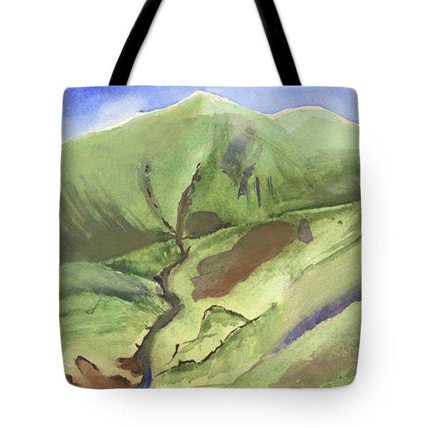 Hillside Panorama Tote Bag