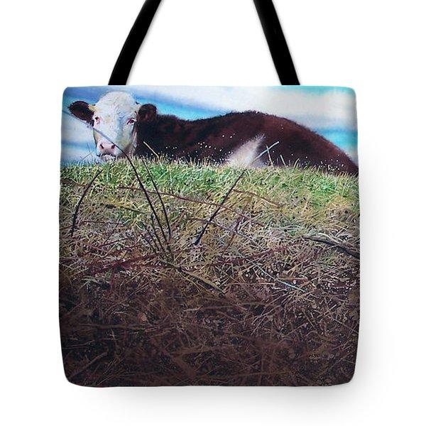 Hillside Retreat Tote Bag by Denny Bond