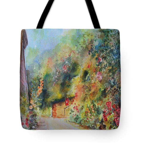 Tote Bag featuring the painting Hillside Street Hythe Kent by Beatrice Cloake