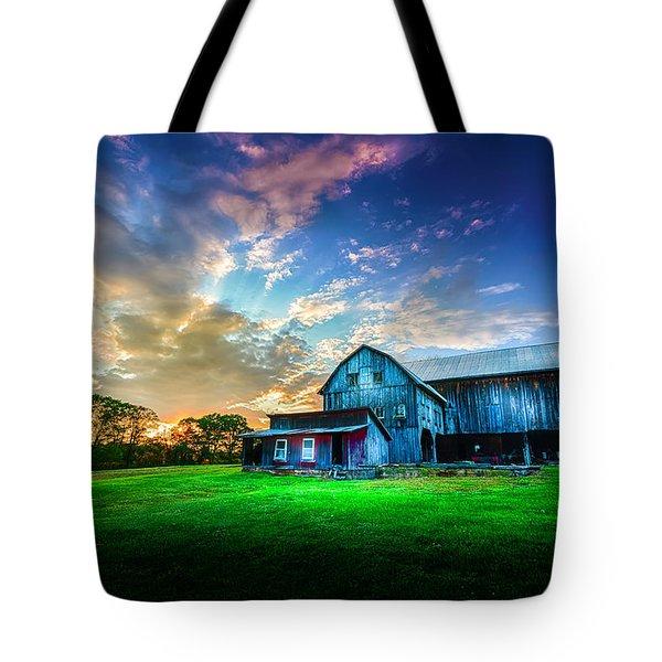 Hillside Sunset Tote Bag