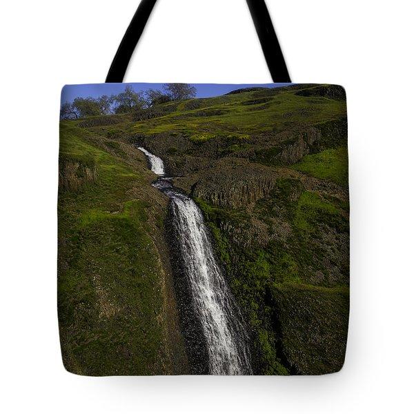 Hillside Waterfall Tote Bag