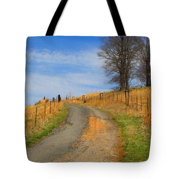 Hilltop Driveway Tote Bag