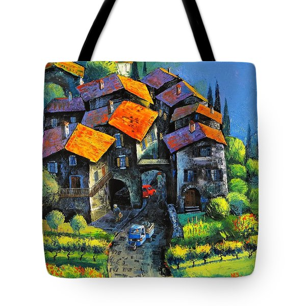 Hilltop Willage Tote Bag