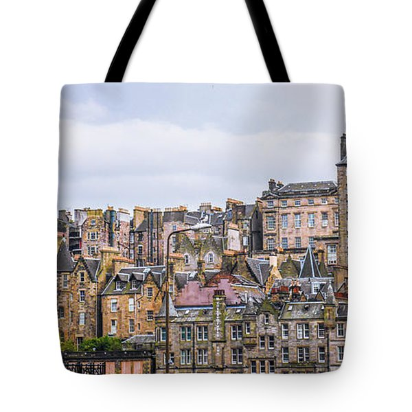Hilly Skyline Of Edinburgh Tote Bag