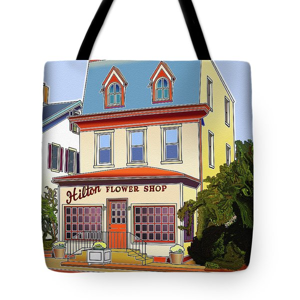 Hilton Flower Shop Tote Bag by Stephen Younts