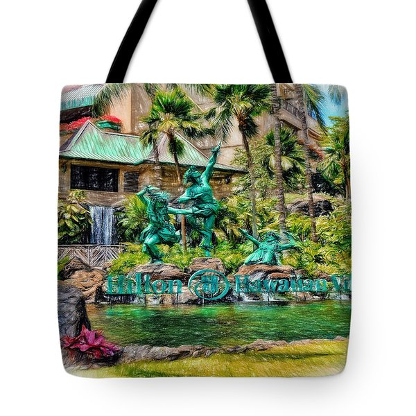 Hilton Hawaiian Village Waikiki Beach Resort Tote Bag