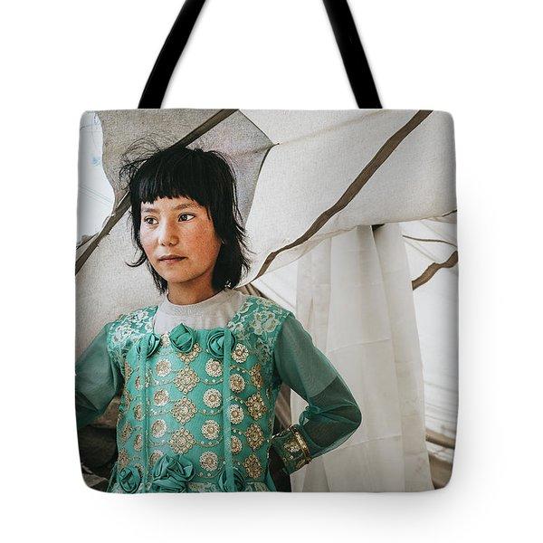 Himalayan Girl Tote Bag
