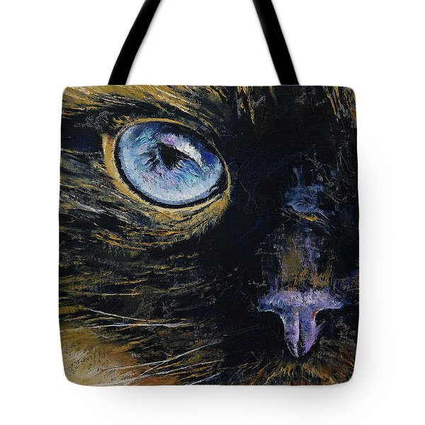 Burmese Cat Tote Bag by Michael Creese
