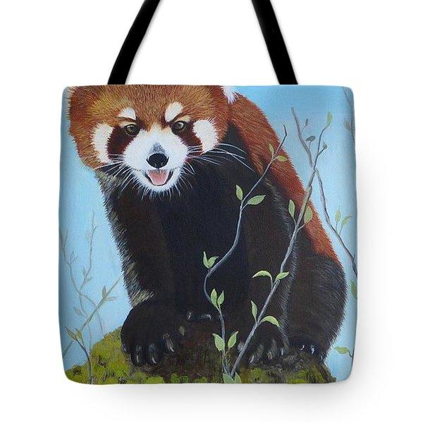 Himalayan Red Panda Tote Bag