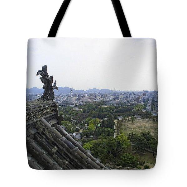 Himeji City From Shogun's Castle Tote Bag