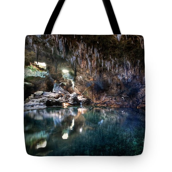 Tote Bag featuring the photograph Hinagdanan Cave by Yhun Suarez