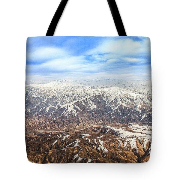 Hindu Kush Snowy Peaks Tote Bag