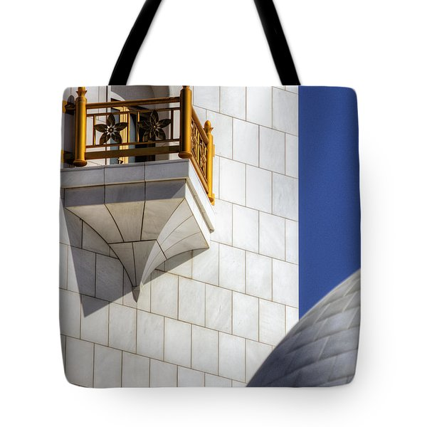 Tote Bag featuring the photograph Hindu Temple Tower by John Swartz
