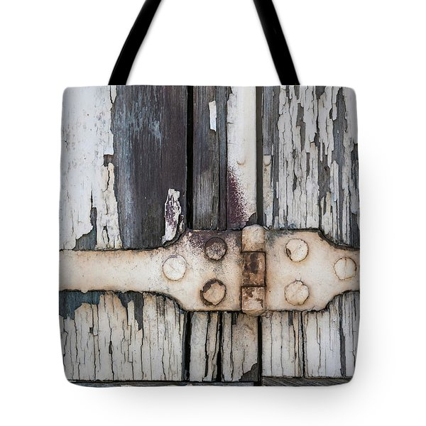 Tote Bag featuring the photograph Hinge On Old Shutters by Elena Elisseeva
