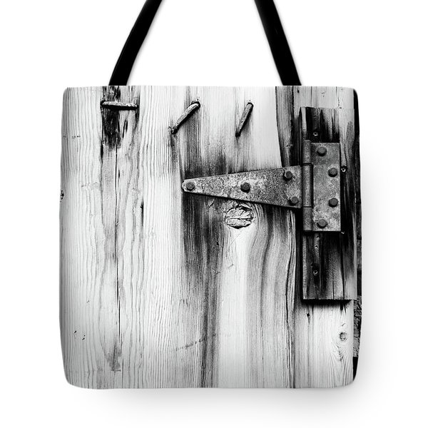 Hinged In Black And White Tote Bag