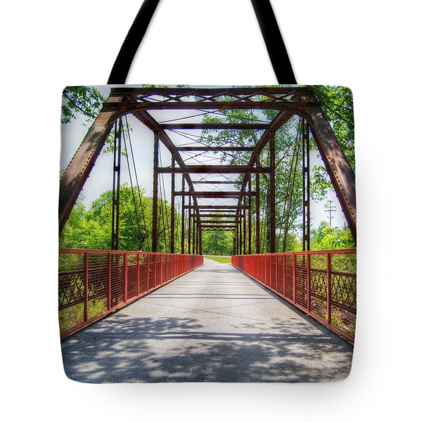 Hinkson Creek Bridge Tote Bag