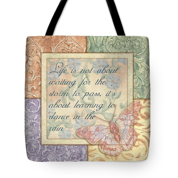 Hint Of Spring Butterfly 2 Tote Bag
