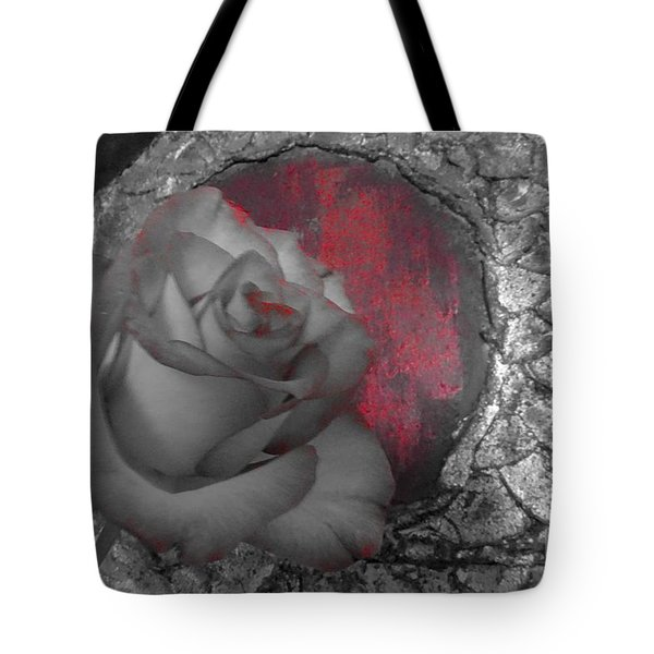 Hints Of Red - Rose Tote Bag