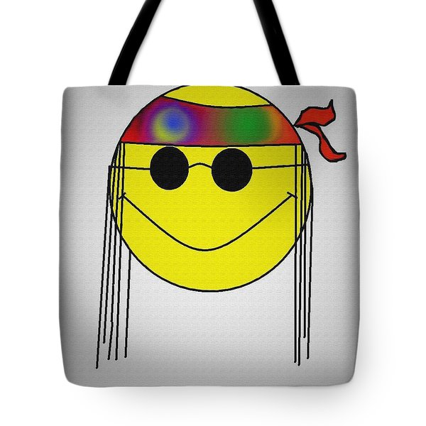 Hippie Face Tote Bag by Bill Cannon