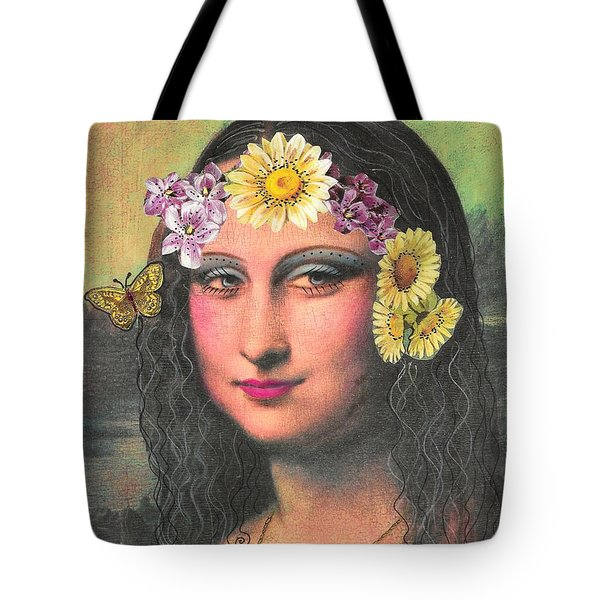 Hippie Gioconda Tote Bag
