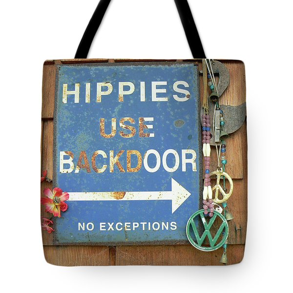 Hippie Sign Tote Bag by Pamela Patch