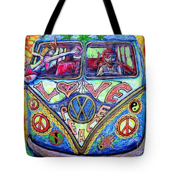 Hippie Tote Bag by Viktor Lazarev