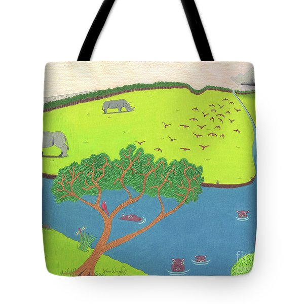 Hippo Awareness Tote Bag