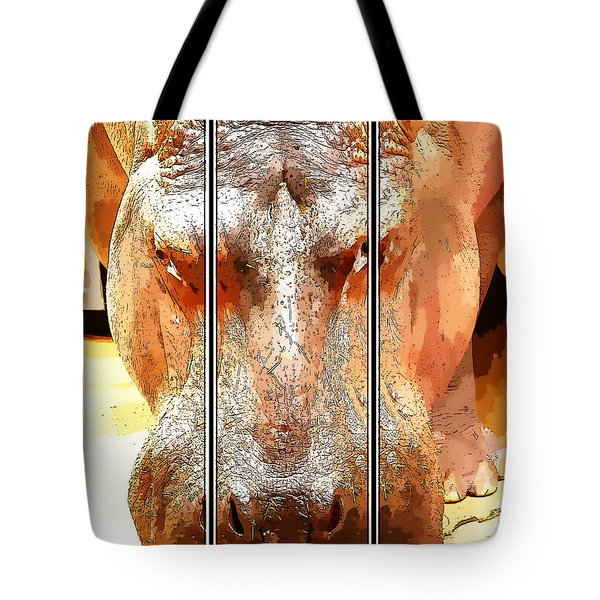 Hippo Cartoon Tote Bag by Ericamaxine Price
