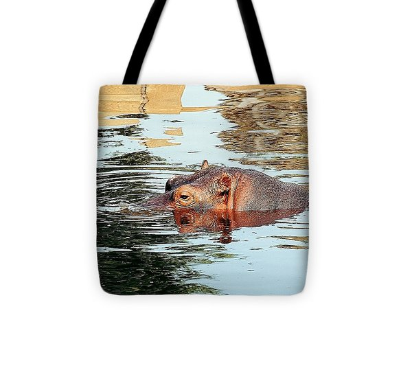 Hippo Scope Tote Bag by Jan Amiss Photography