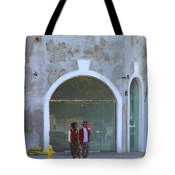 Hipsters On Melrose Avenue Tote Bag