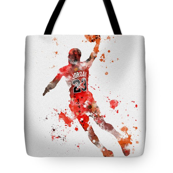 His Airness Tote Bag by Rebecca Jenkins