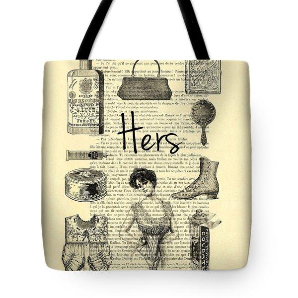 His And Hers, Lady Bathroom Art Tote Bag