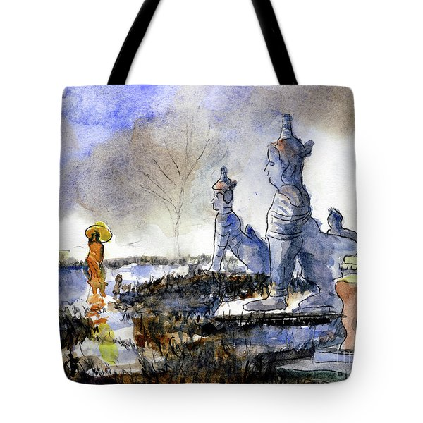 His And Hers Temples Tote Bag by Randy Sprout
