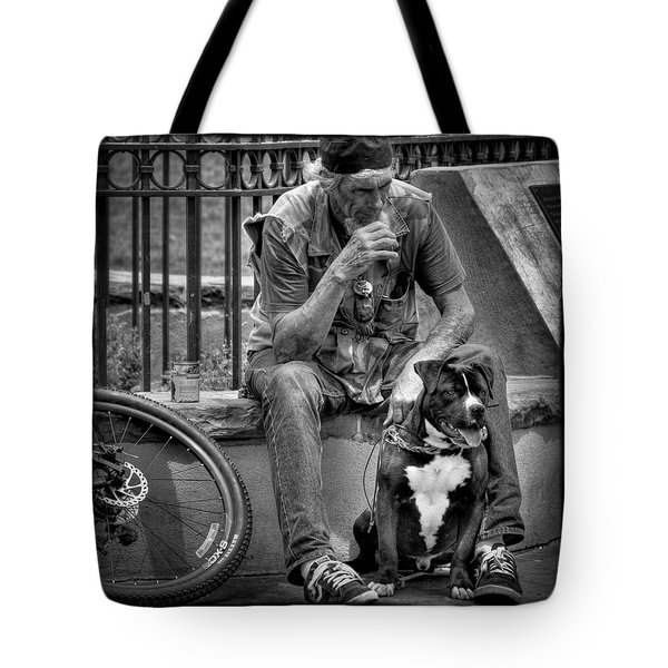 His Best Friend II Tote Bag by David Patterson