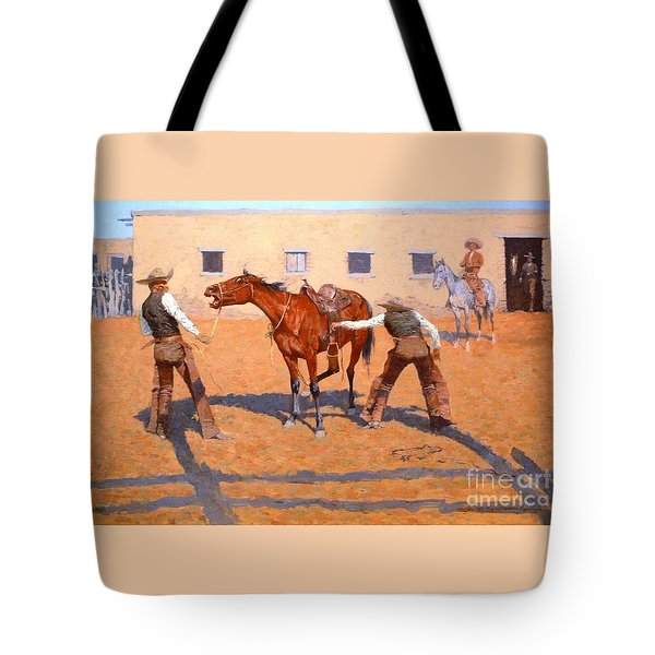 His First Lesson Tote Bag