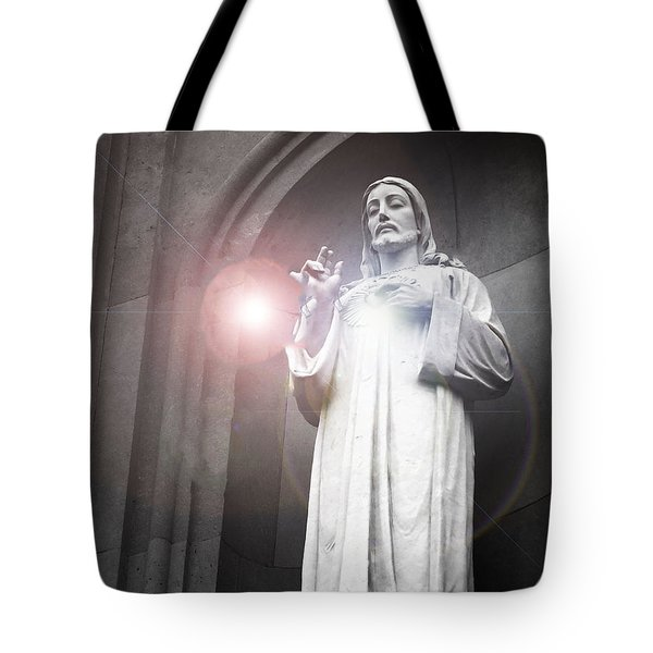His Guiding Light  Tote Bag