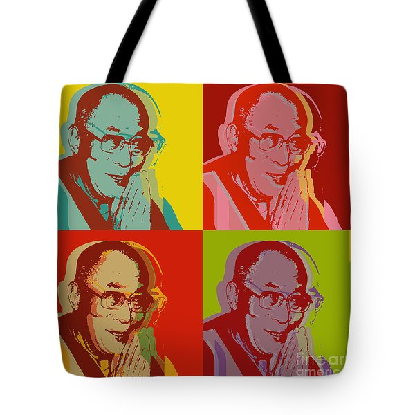 His Holiness The Dalai Lama Of Tibet Tote Bag