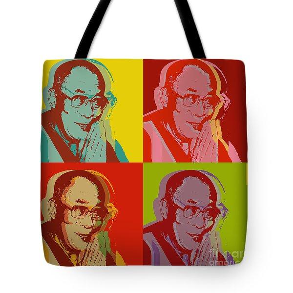 His Holiness The Dalai Lama Of Tibet Tote Bag