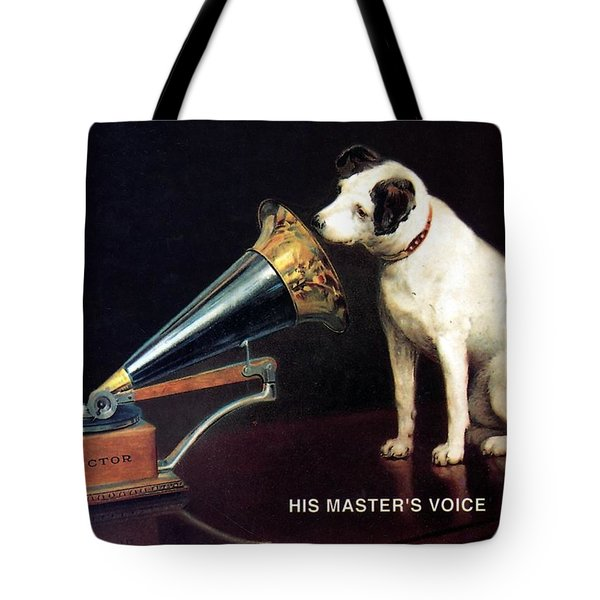 His Master's Voice - Hmv - Dog And Gramophone - Vintage Advertising Poster Tote Bag