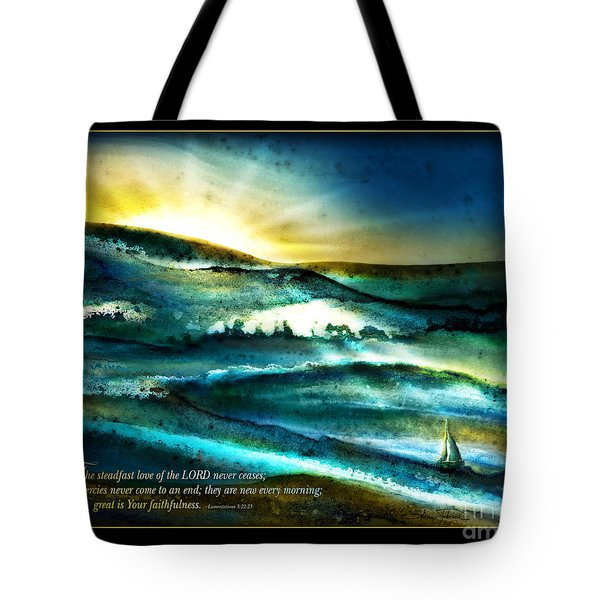 His Mercies Are New Every Morning -verse Tote Bag