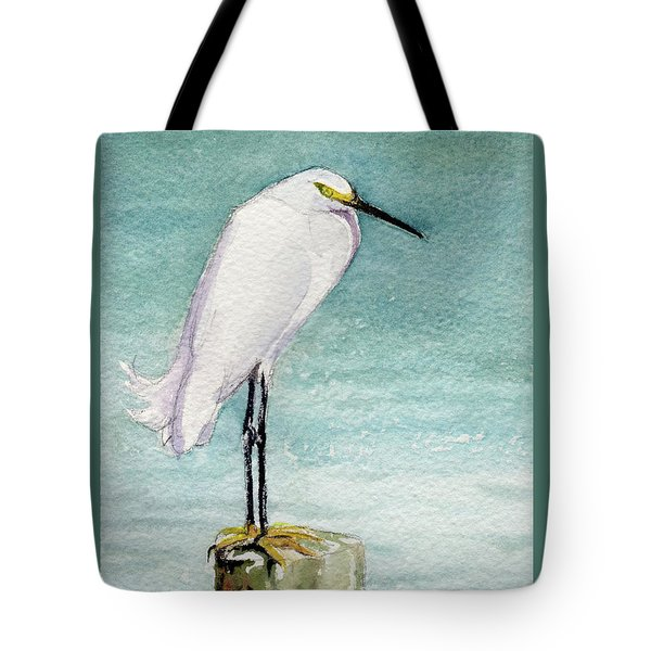 Tote Bag featuring the painting His Post by Kris Parins