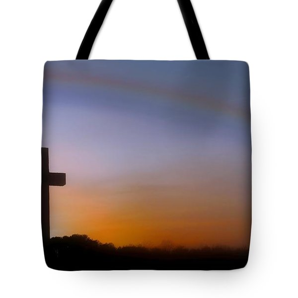 Tote Bag featuring the photograph His Promise by Benanne Stiens