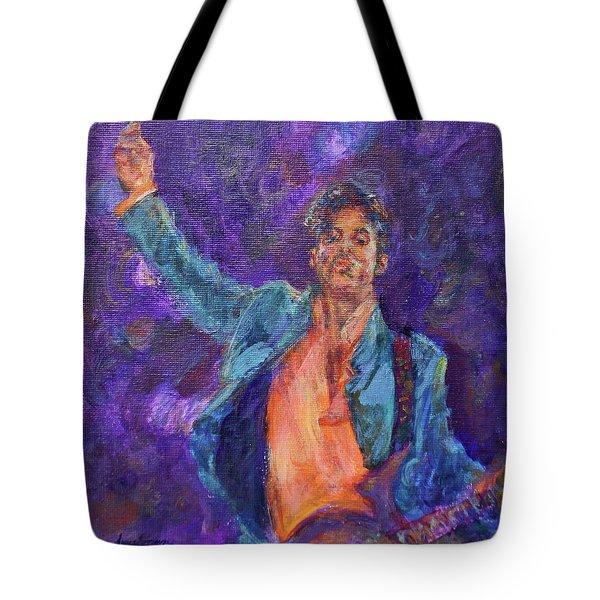 His Purpleness - Prince Tribute Painting - Original Art Tote Bag
