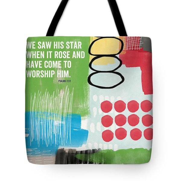 His Star Rose- Contemporary Christian Art By Linda Woods Tote Bag