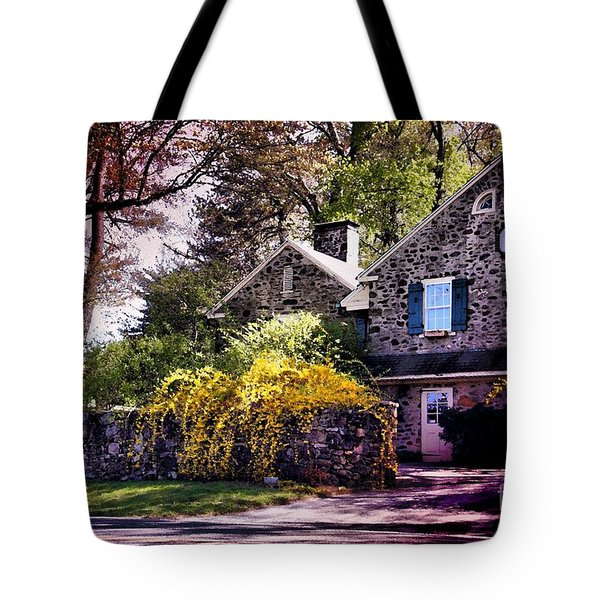Tote Bag featuring the photograph Historic 1889 Home by Polly Peacock